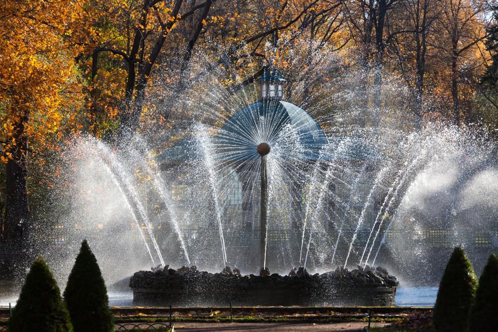 Фото фонтана Солнце в Петергофе