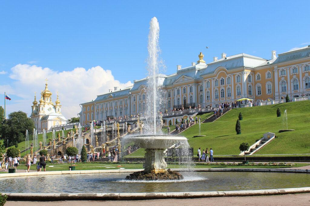 Фотография фонтана Итальянский в Петергофе